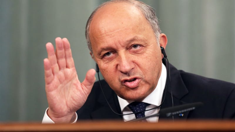 Laurent Fabius said the coalition should not battle ISIL to the exclusion of supporting rebels [EPA]