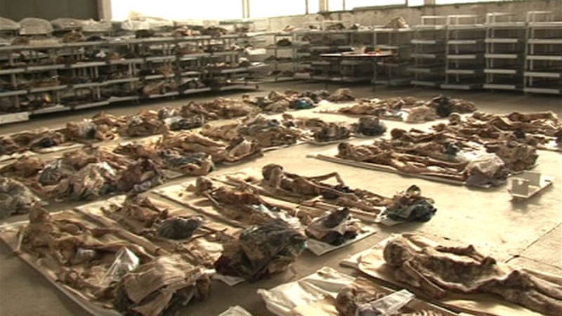 The morgue in Sanksi Most, where DNA testing is done on the victims of  ethnic cleansing [Flaminia Giambalvo/Al Jazeera]