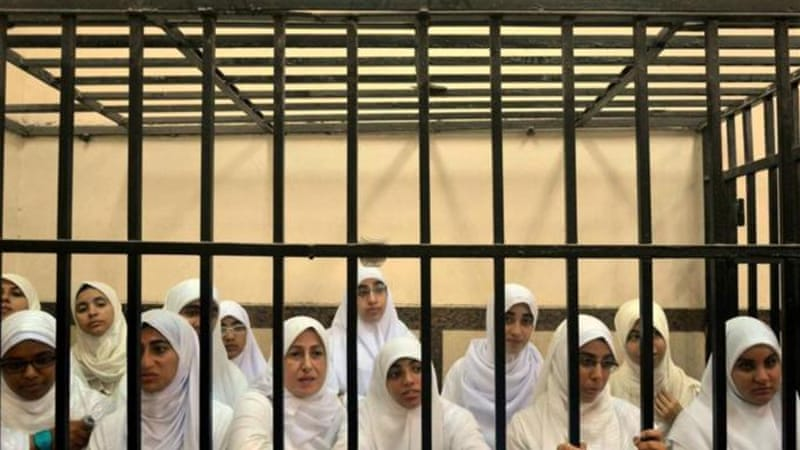 A court in Alexandria also released 21 female protesters who previously sentenced to 11 years in jail [AP]