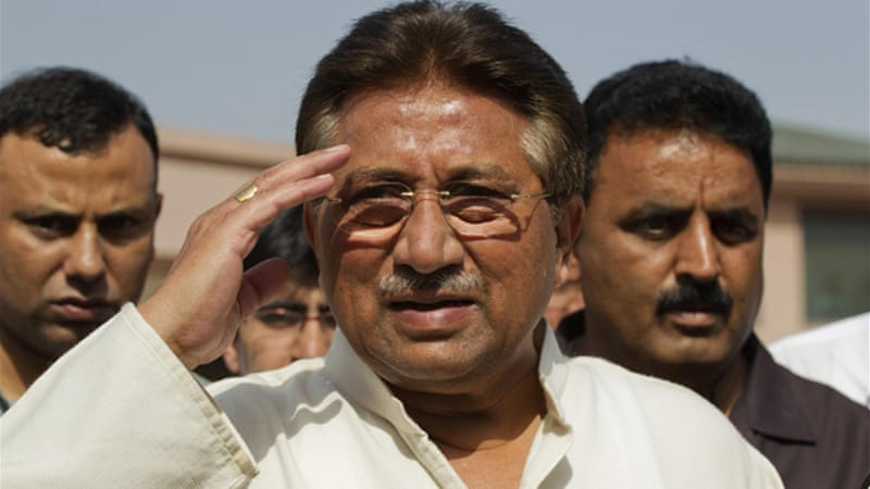 Musharraf was granted bail on Monday in a case involving the death of a religious leader in 2007 [Reuters]