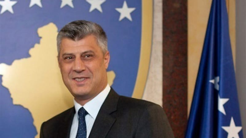 Among the indicted was a bodyguard of Kosovan Premier Hashem Thaci, who had led rebels in war with Serbia [EPA]