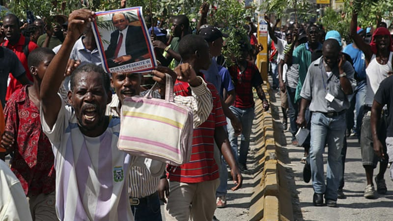 Haiti has seen a wave of anti-government protests over the past month [Reuters]