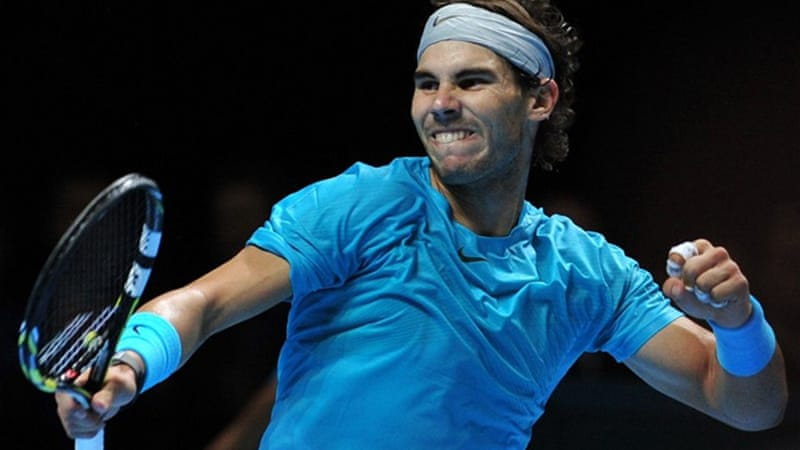 Nadal beat the Czech Republic's Tomas Berdych in the round robin stage of the ATP contest in London [AFP]