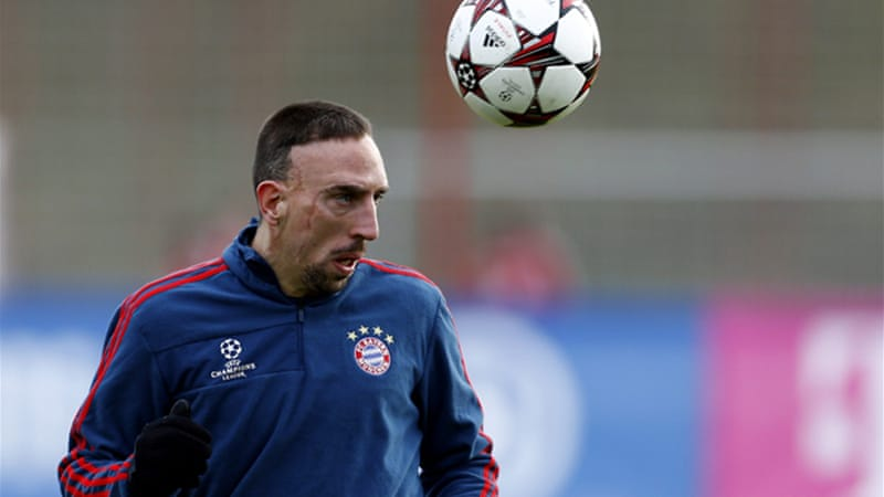 Ribery joined four-time winner Messi and Cristiano Ronaldo on the three-man shortlist for the honour [Reuters]