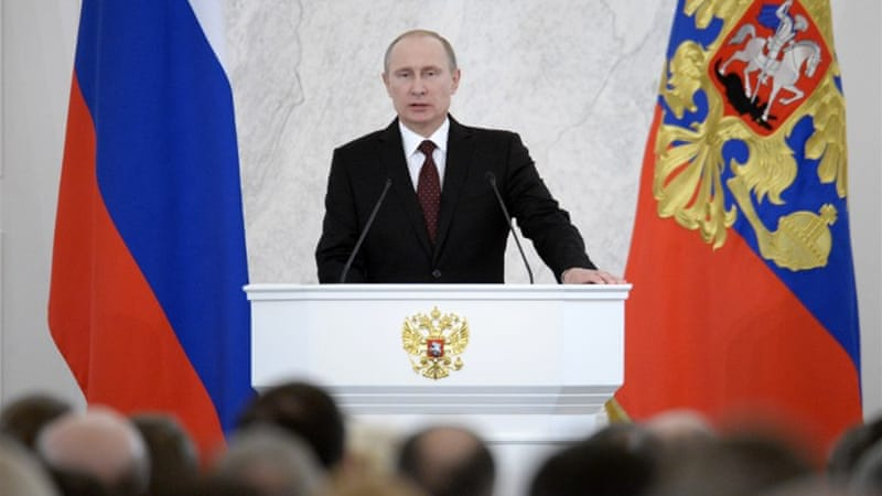 Russian President Putin has revealed plans for a Eurasian Union with Ukraine, Belarus and Kazakhstan [AFP]