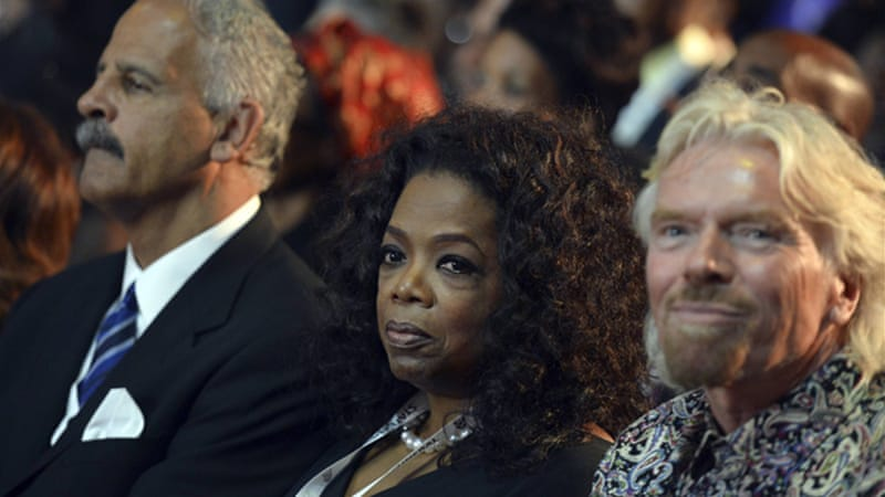 Oprah Winfrey and Richard Branson were some of the mourners in Qunu, East Cape province [Reuters]
