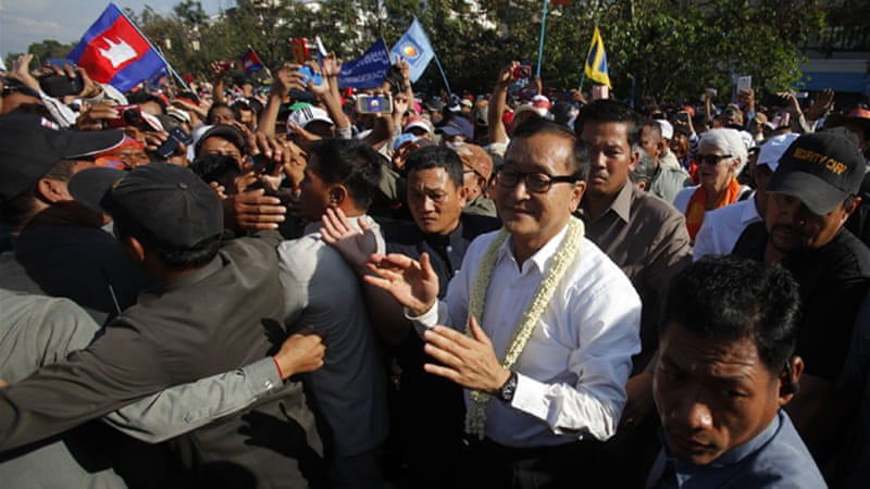 Cambodia's opposition party has boycotted parliament since Hun Sen's re-election [Reuters]