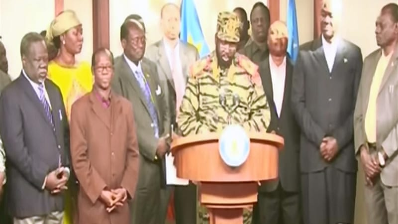 Salva Kiir sacked cabinet in July and suspended top negotiator at talks to defuse tensions with Sudan [Al Jazeera]