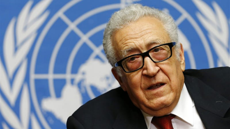 Lakhdar Brahimi told reporters the US did not want Iran involved [Reuters]