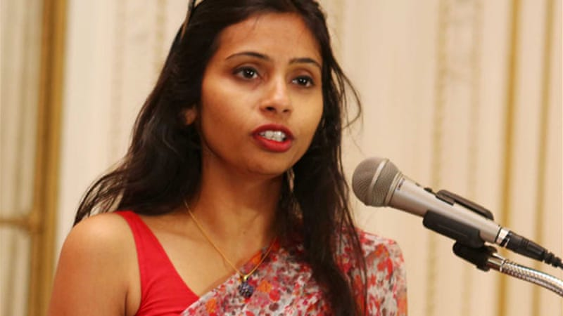 A diplomatic row has erupted since Indian diplomat Devyani Khobragade was arrested on December 12 [Reuters]