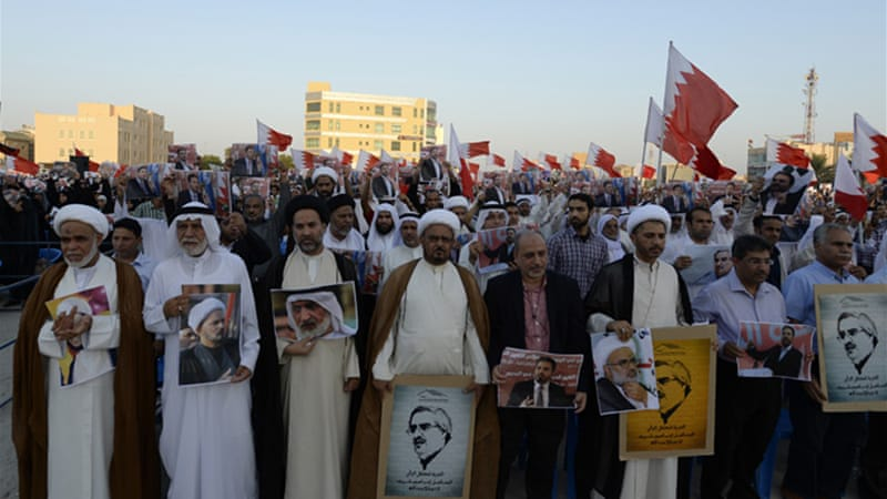 Sheikh Ali Salman's group has spearheaded protests against Bahraini authorities [EPA]