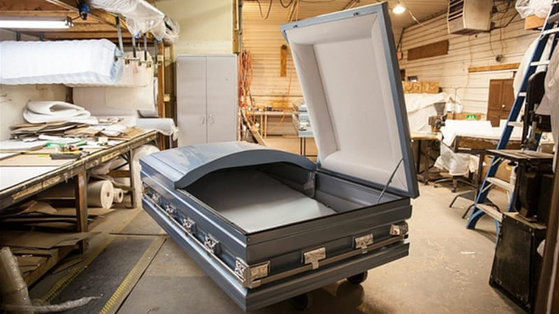 full size coffin bed