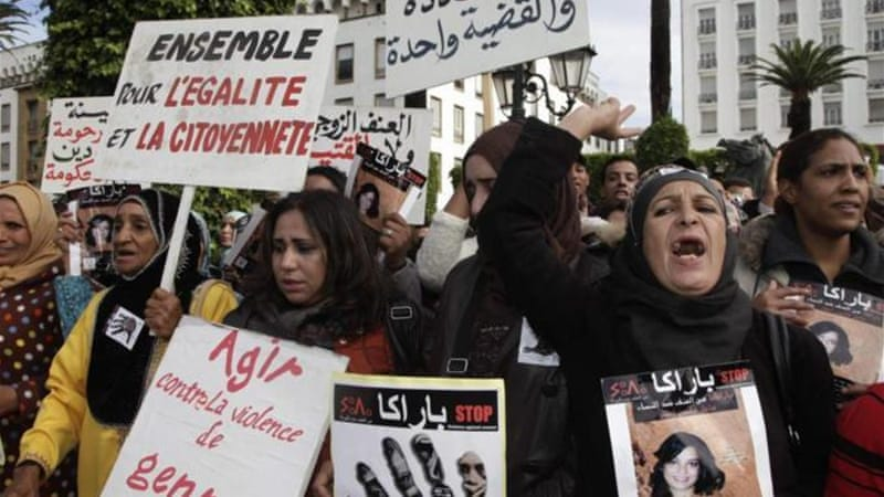 Moroccan rights activists frequently hold protests against violence towards women [Reuters]