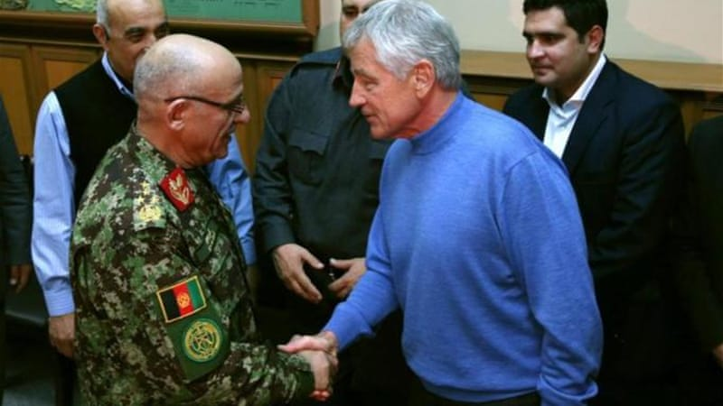 Chuck Hagel chose not to meet with Afghan President Hamid Karzai [Getty Images]