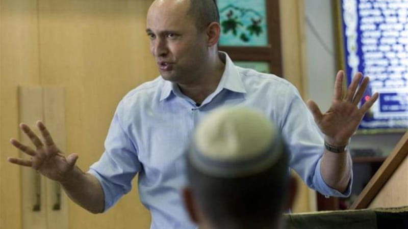Naftali Bennett also ridiculed the US-brokered peace talks between Israel and the Palestinian Authority [EPA]