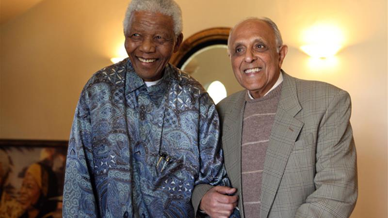 Nelson Mandela and Ahmed Kathrada spent decades in prison together [Ahmed Kathrada Foundation]