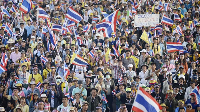 Millions of Thai people have been protesting against the corrupt government of Yingluck Shinawatra  [REUTERS]