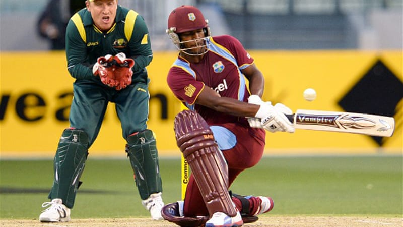 Johnson Charles struck a maiden ton to inspire a batting fightback from the West Indies, but fell the next ball [AFP]