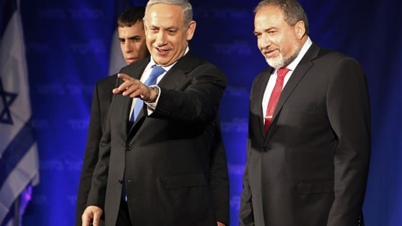 The role of Lieberman, right, in the next coalition government is unclear as he faces trial for corruption [Reuters]