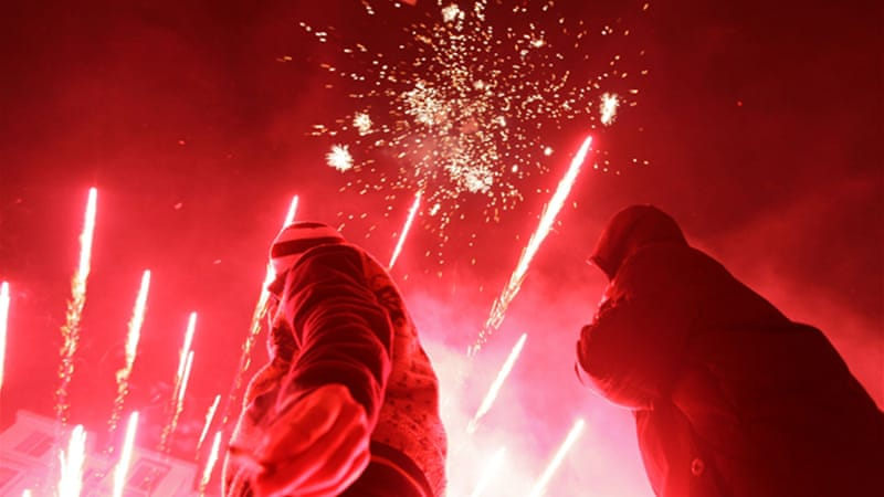Chinese tradition says that loud fireworks help to ward off evil spirits [Reuters]