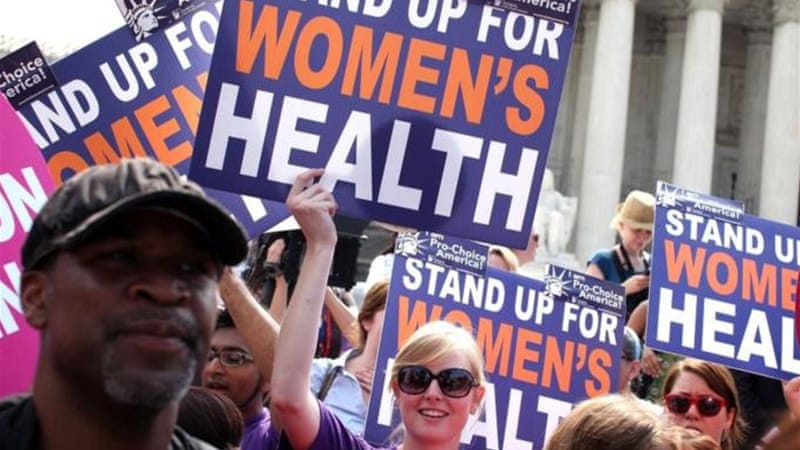 "Progressives, and especially women of all colours, stood against the Republican ""war on women"" in the 2012 election and voted for their sexual/bodily rights [Getty Images]"