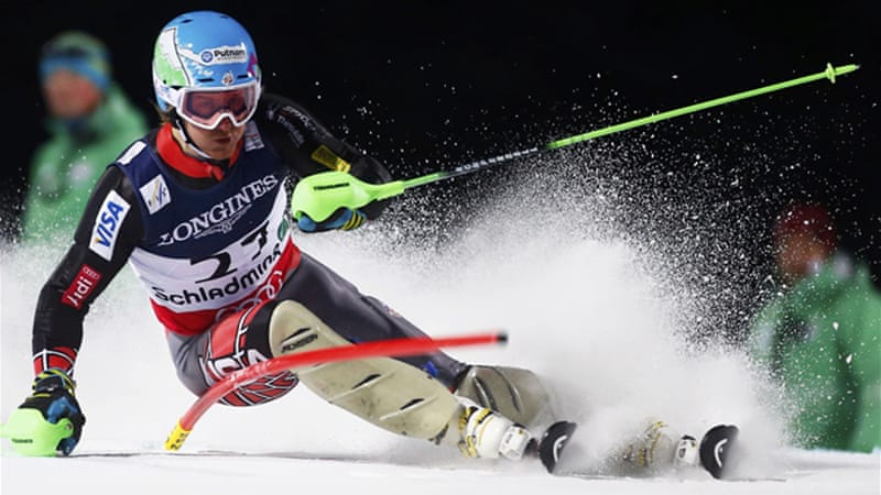 Ligety won the super-G that opened the world championships, and looks favourite for a third gold in the giant slalom on Friday [Reuters]