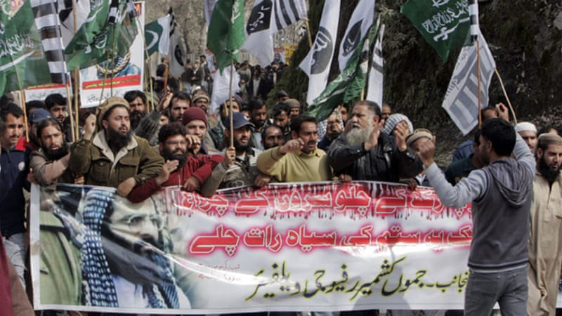 Afzal Guru's execution has prompted demonstrations on both Indian and Pakistani areas of Kashmir [Reuters]