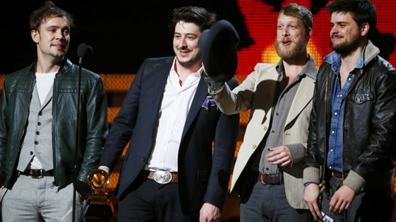 Mumford & Sons won the Grammy for album of the year for 'Babel' during an unpredictable awards night [Reuters]