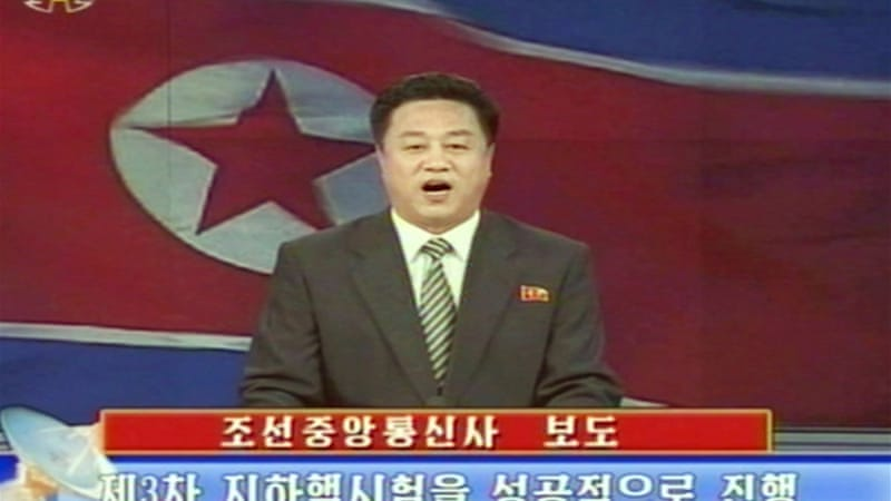 North Korea's nuclear test on Tuesday drew global condemnation and stern warning from the US [AFP]