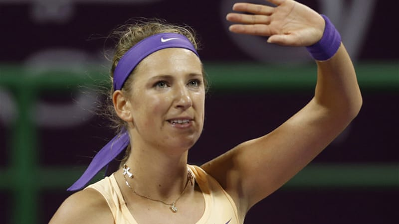 Victoria Azarenka will remain world number one if she makes the final in Qatar [Reuters]