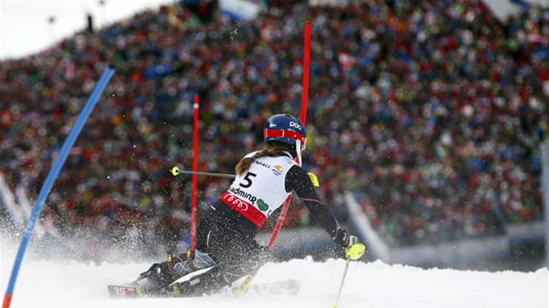 At just 17 years of age, Shiffrin beat her rivals to give the US ski team its fourth and fifth medal overall at the world championships [Reuters]