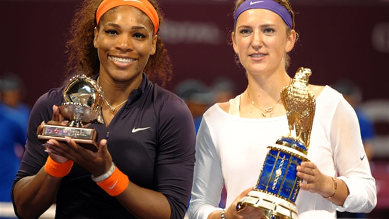 Azarenka had not beaten Serena Williams since 2009 in Miami, and had a 1-11 record against the American before Sunday's final [EPA]