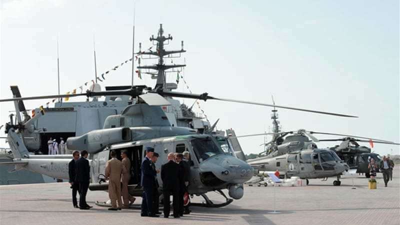 Austerity measures, the end of the Iraq war, and the troop pullout in Afghanistan pushed down sales [Reuters]