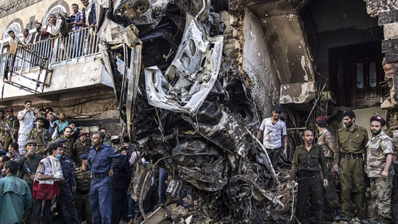 The aircraft was on a training mission when it crashed, according to the defence ministry [Luke Somers for Al Jazeera]