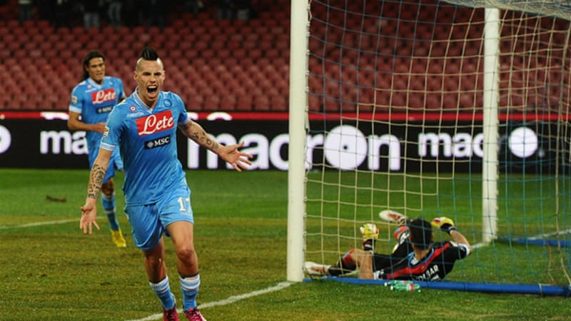 Marek Hamsik put Napoli ahead in the 31st minute at the San Paolo Stadium  [EPA]