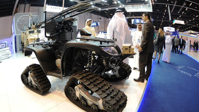 In total, about $2.7bn in defence contracts have been signed by various countries at the IDEX show [Reuters]