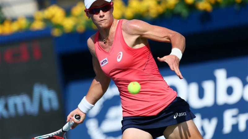 Australian Samantha Stosur continued her poor run of form this season, losing to Roberta Vinci 6-2, 6-4 [AFP]