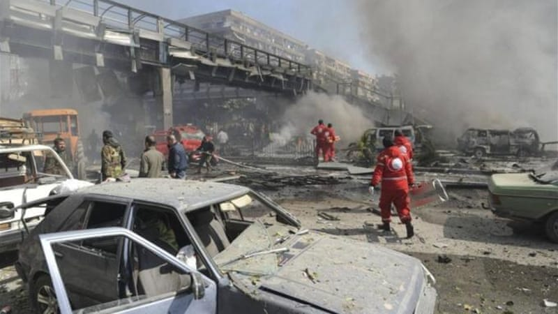State media said 53 died in the car bomb attack in Damascus, while activists said the death toll was at least 60 [AFP]