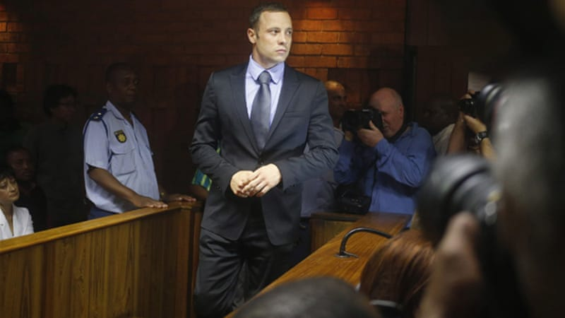 Pistorius has been charged with shooting dead his girlfriend, model Reeva Steenkamp, on Valentine's Day [Reuters]