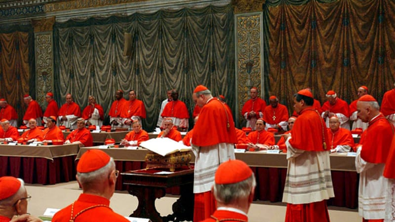 During the conclave, cardinals are not allowed to communicate in any way with the outside world [EPA]