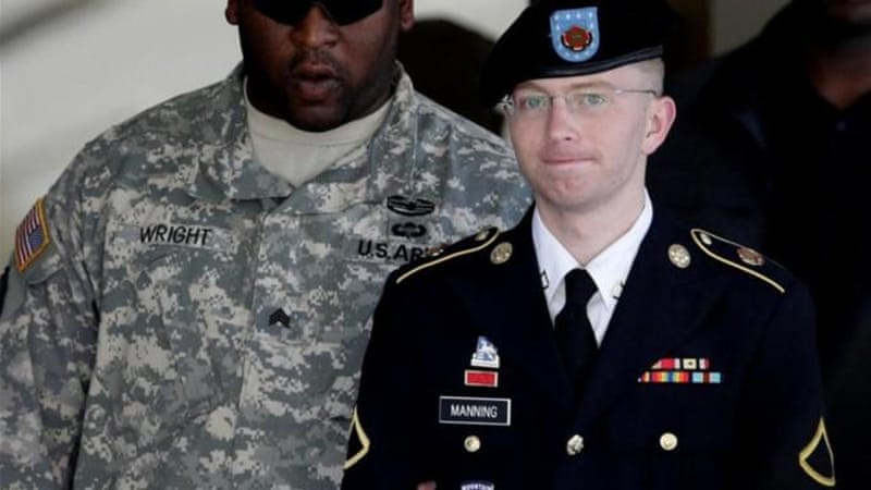 Bradley Manning (right) pleaded guilty to 10 of the 22 charges facing him [AP]