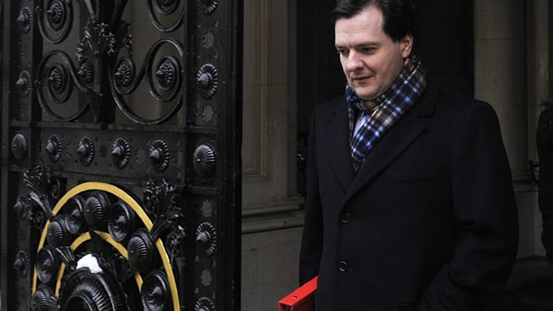 Finance Minister George Osborne says downgrade shows Britain cannot 'run away' from debt problems [EPA]
