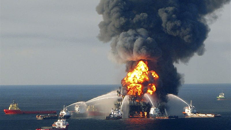 An estimated 4.9 million barrels were spilled by the offshore oil rig Deepwater Horizon [AFP]