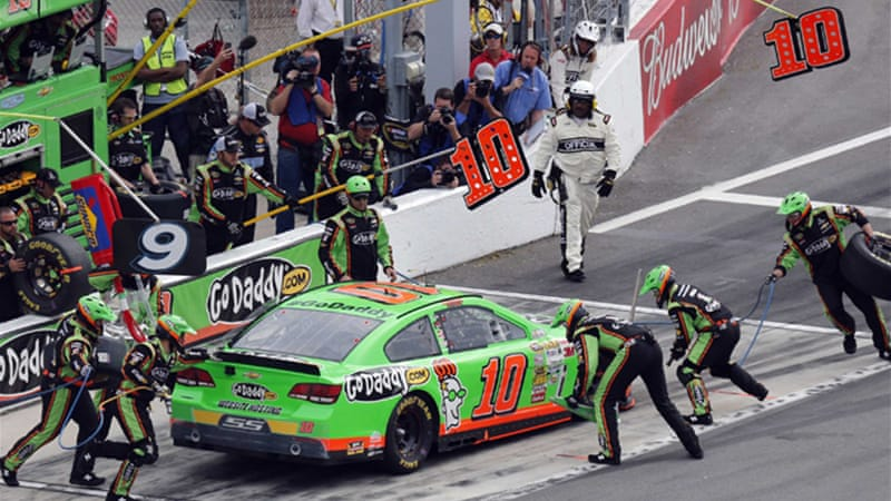 Pole sitter Danica Patrick's bid to become the first woman to win a NASCAR Sprint Cup race ended in an eighth-placed finish [Reuters]
