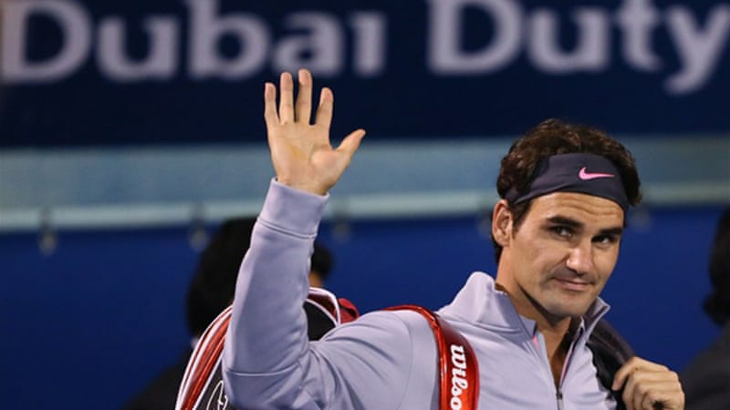 Federer is looking for his sixth title at the Dubai Championships [AFP]