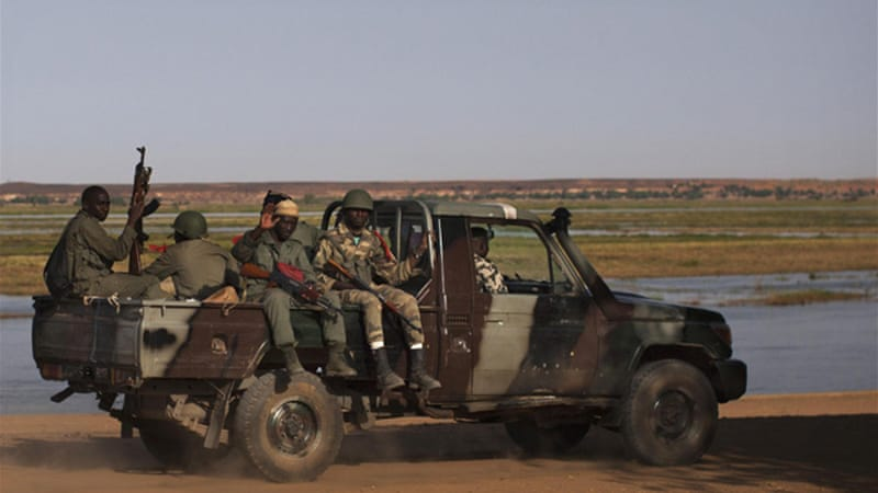 Malian soldiers are trying to push back rebels in northern Mali who have been moving towards the capital [Reuters]