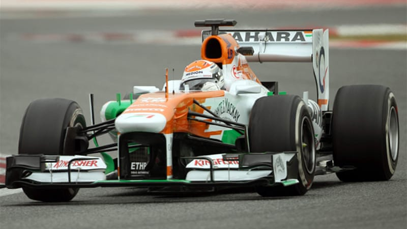 Sutil and Scotland's Paul di Resta will now be the team's drivers for the 2013 Grand Prix season, as they were in 2011 [EPA]