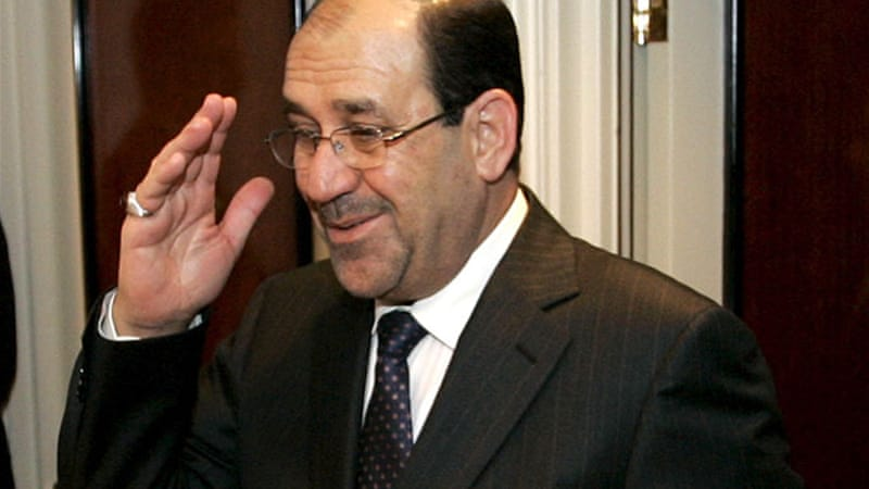 Prime Minister of Iraq, Nouri al-Maliki said the only 'peaceful solution' for Syria is through dialogue [EPA]