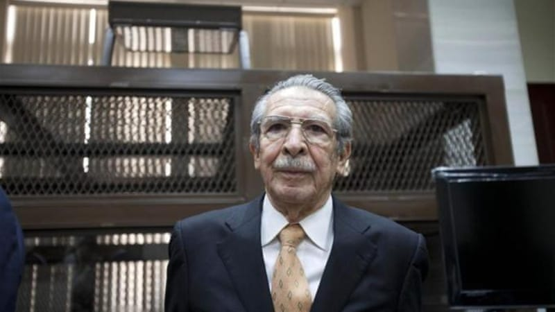 Guatemala's former dictator Jose Efrain Rios Montt is the latest of several ex-officers in Guatemala to face the law concerning crimes committed during the country's 36-year civil war, which ended in 1996 [AP]
