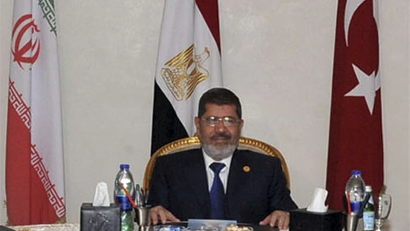 President Morsi condemned the death threats, but also said that the opposition was inciting unrest [Reuters]